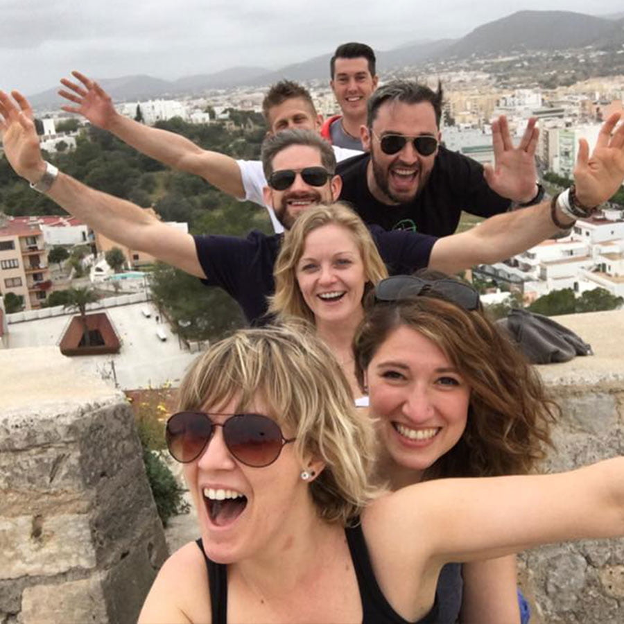 Ibiza holiday with friends from salsa