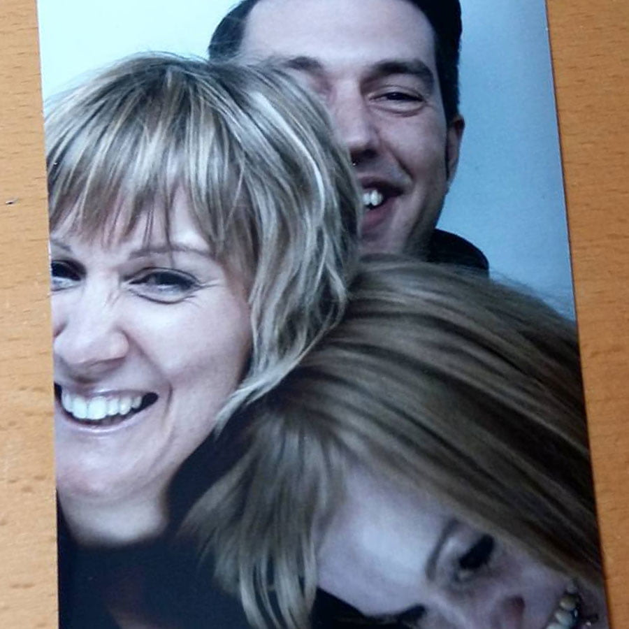 Photo booth shot before a gig
