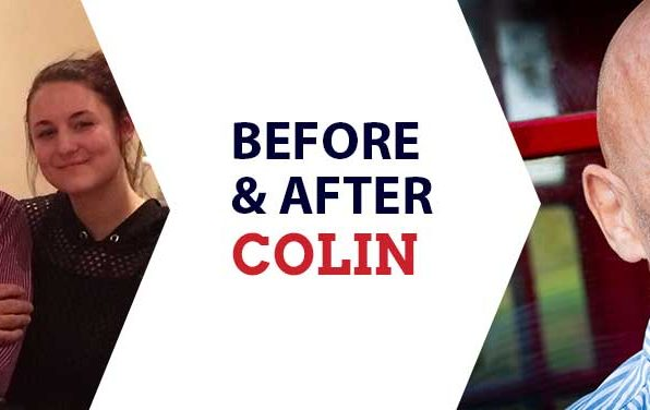 Before and after dating photos of Colin